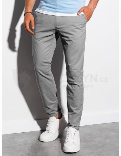 Pánské kalhoty chinos P894 - šedé