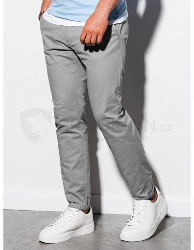 Men's pants chinos P894 - grey