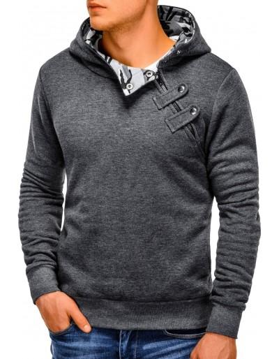 Men's hoodie PACO - dark grey/camo