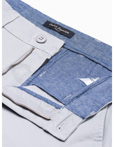 Men's pants chinos P894 - light grey