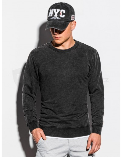 Men's plain sweatshirt B1023 - black