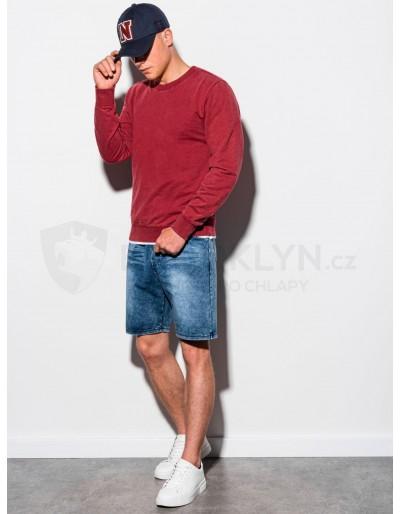 Men's plain sweatshirt B1023 - red
