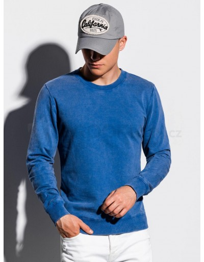 Men's plain sweatshirt B1023 - blue