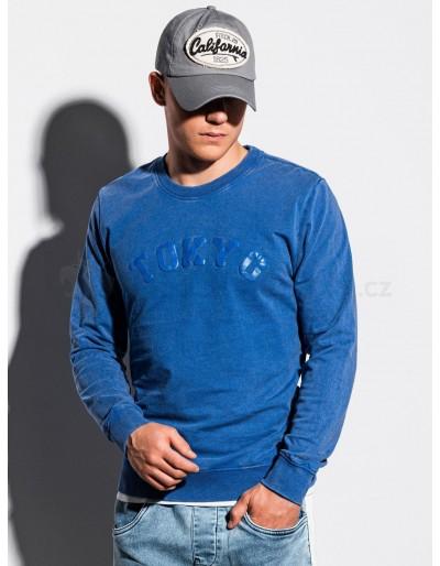 Men's printed sweatshirt B1024 - blue