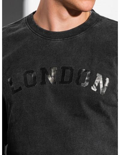 Men's printed sweatshirt B1025 - black