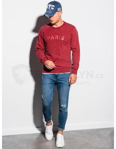 Men's printed sweatshirt B1027 - red