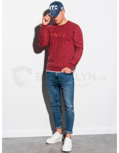 Men's printed sweatshirt B1027 - red