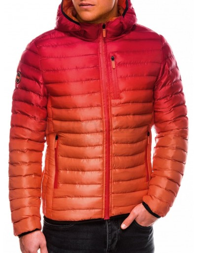 Men's Autumn quilted jacket C319 - red