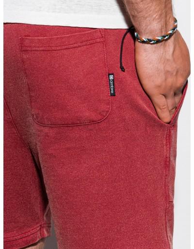 Men's sweatshorts W223 - red