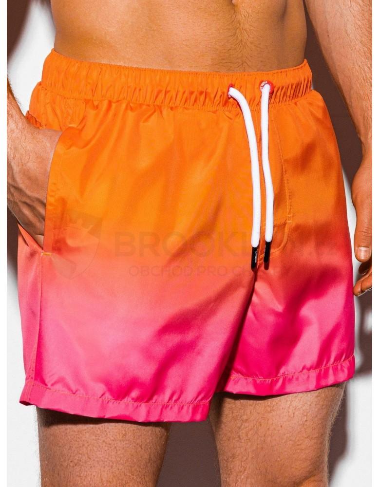 Pánské plavecké šortky W250 - oranžové