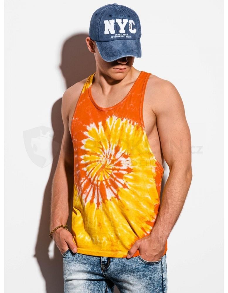 Pánské tílko Tie-Dye S1334 - oranžové