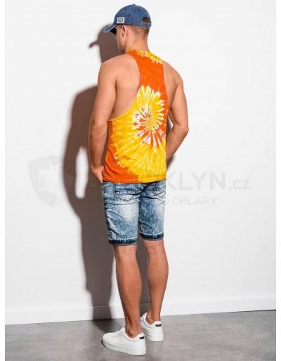 Men's Tie-Dye tank top S1334 - orange
