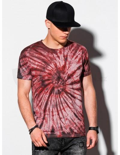 Pánské tričko Tie-Dye S1335 - červené