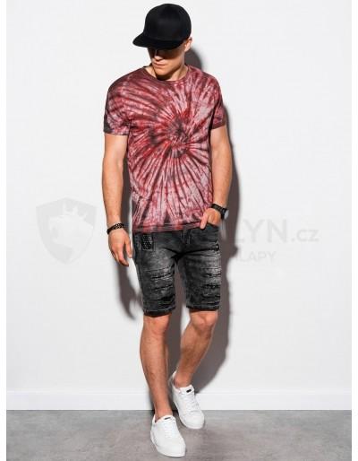 Men's Tie-Dye t-shirt S1335 - red