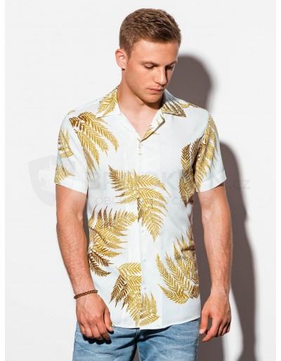 Pánská košile s krátkým rukávem K558 - bílá