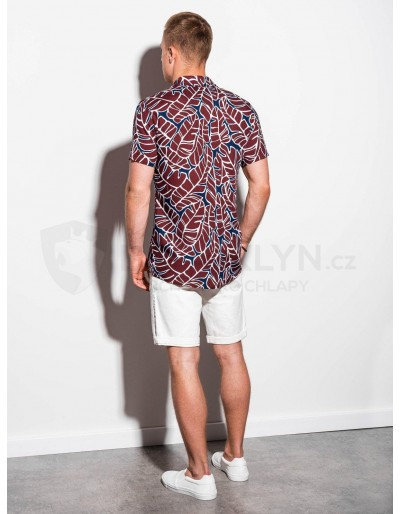 Men's shirt with short sleeves K550 - brick