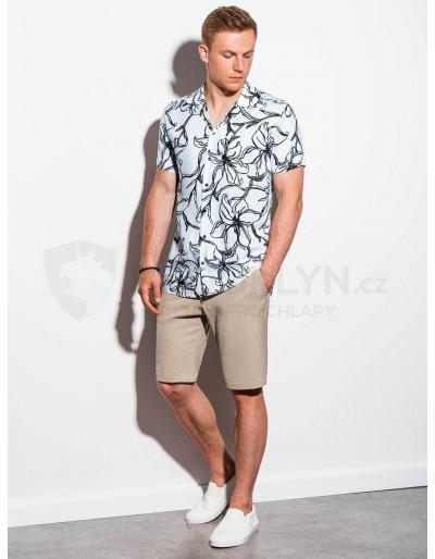Men's shirt with short sleeves K551 - white