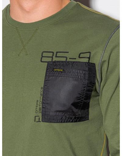 Men's printed longsleeve L130 - olive