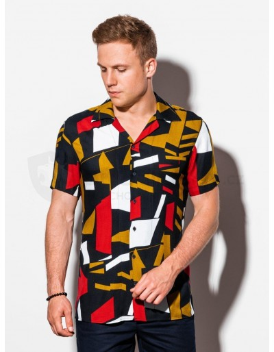 Men's shirt with short sleeves K559 - black