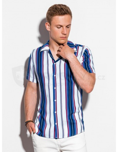 Men's shirt with short sleeves K533 - white