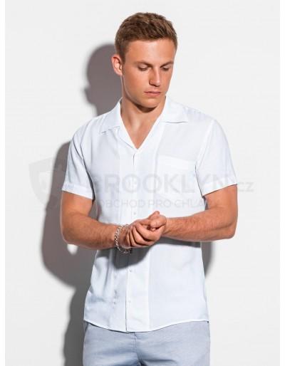 Pánská košile s krátkým rukávem K561 - bílá