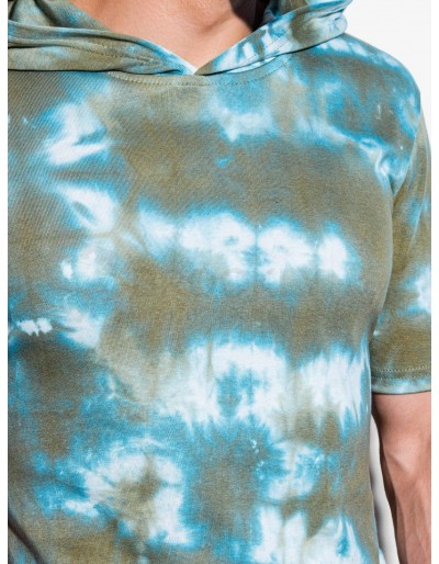 Men's hooded Tie-Dye t-shirt S1220 - olive