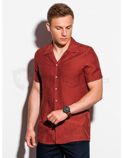 Men's shirt with short sleeves K561 - brick