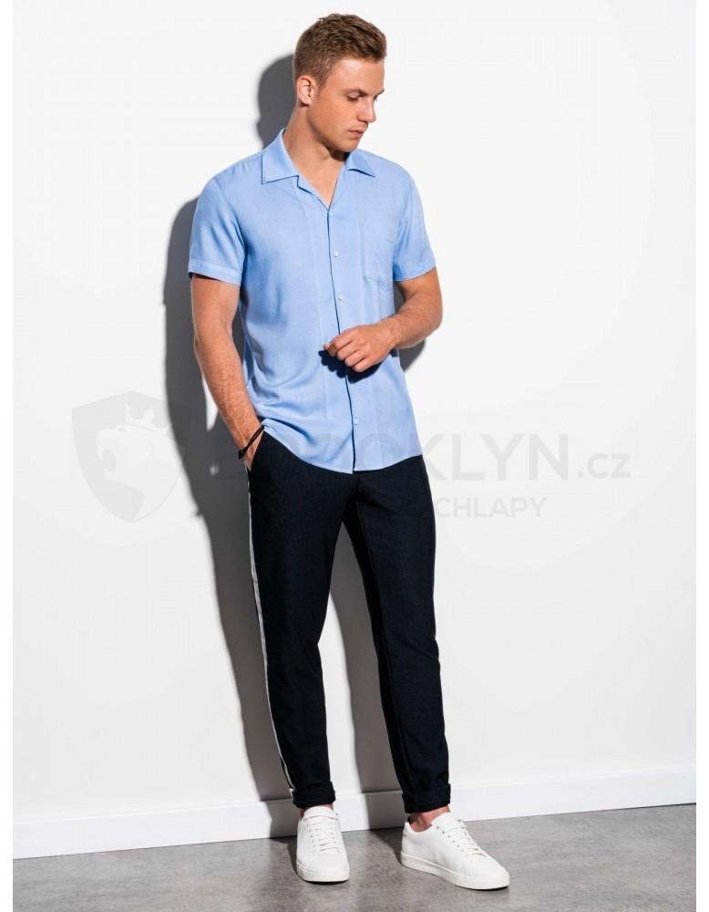 Pánská košile s krátkým rukávem K561 - světle modrá