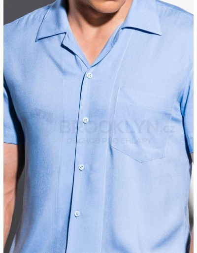 Men's shirt with short sleeves K561 - light blue