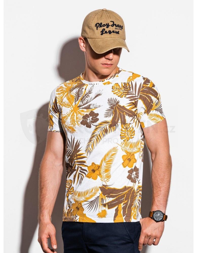 Pánské tričko s potiskem S1297 - žluté