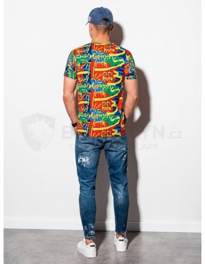 Men's printed t-shirt S1338 - red