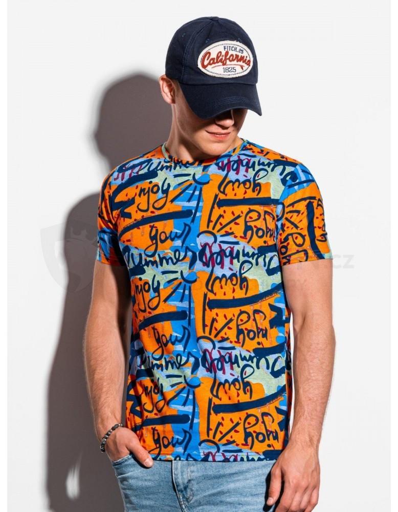 Pánské tričko s potiskem S1338 - oranžové