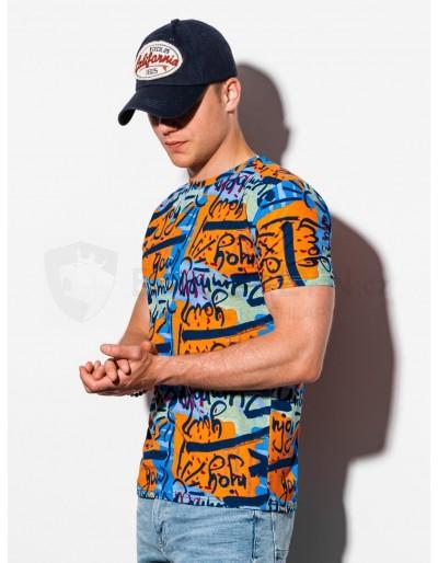 Men's printed t-shirt S1338 - orange