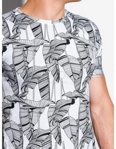 Men's printed t-shirt S1337 - white