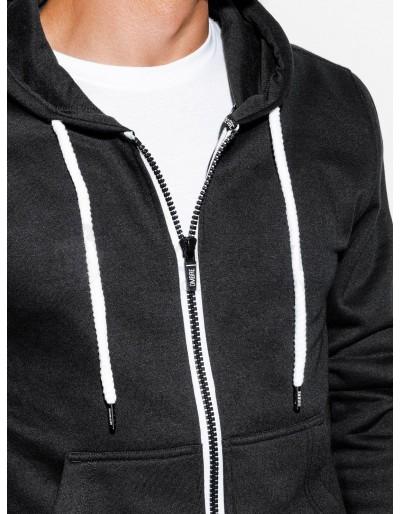 Men's zip-up sweatshirt B977 - black V