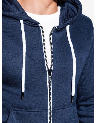 Men's zip-up sweatshirt B977 - navy V