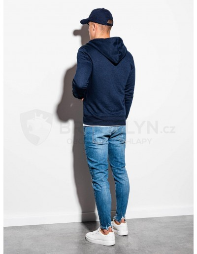 Men's zip-up sweatshirt B977 - navy V