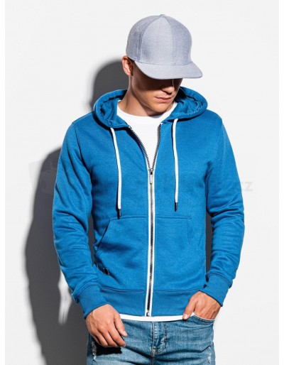 Men's zip-up sweatshirt B977 - blue