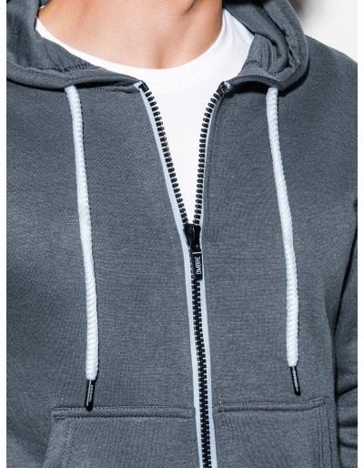 Men's zip-up sweatshirt B977 - grey