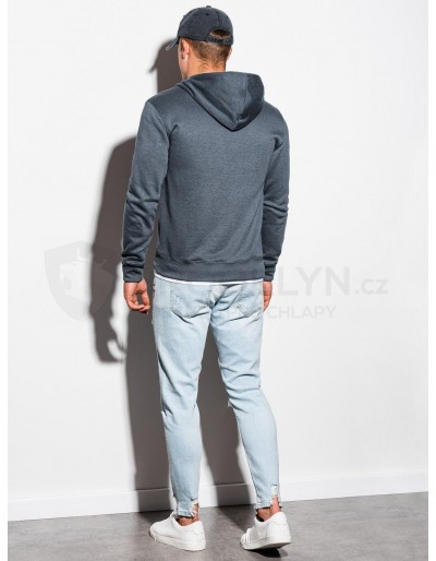 Men's zip-up sweatshirt B977 - grey