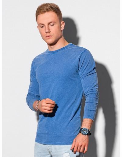Pánský obyčejný dlouhý rukáv L131 - tmavě modrý