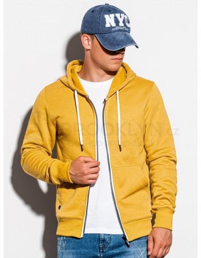 Men's zip-up sweatshirt B977 - yellow