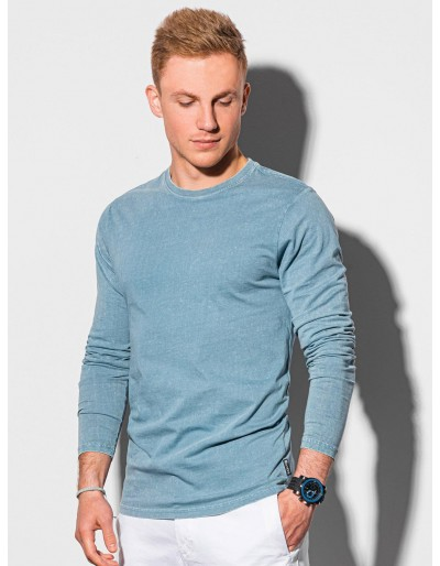 Pánský běžný dlouhý rukáv L131 - světle modrý