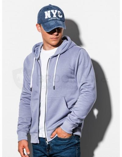 Men's zip-up sweatshirt B977 - light blue