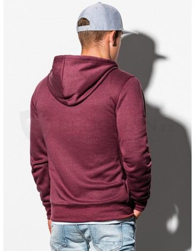 Men's zip-up sweatshirt B977 - dark red V