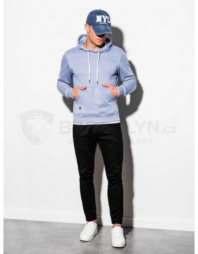 Men's hooded sweatshirt B979 - light blue