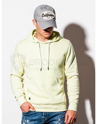 Men's hooded sweatshirt B979 - light yellow V