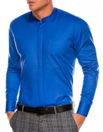Men's elegant shirt with long sleeves K307 - blue
