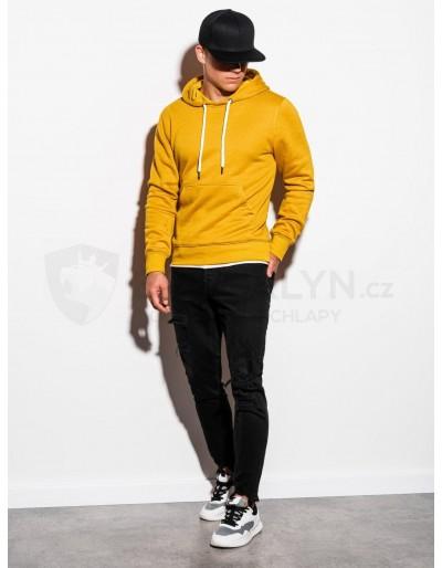 Men's hooded sweatshirt B979 - yellow V