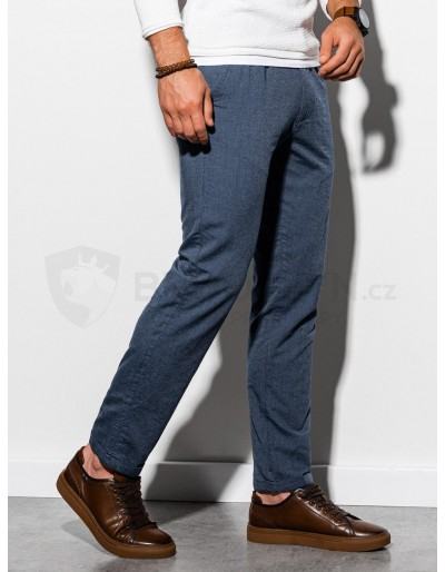 Men's pants chinos P892 - navy